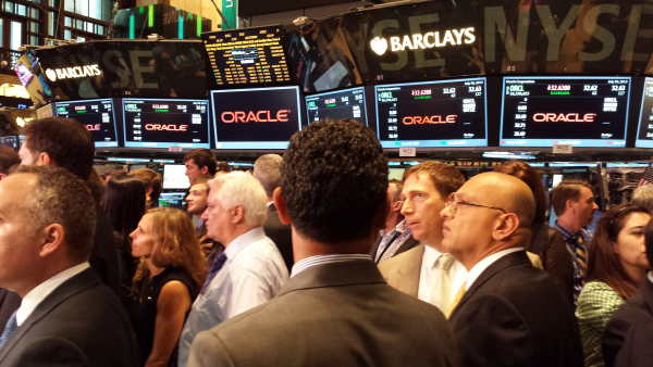 Watching Oracle Closing Bell